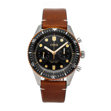 Oris Divers Sixty-Five Chronograph Automatic // 01 771 7744 4354-07 5 21 45 // Pre-Owned