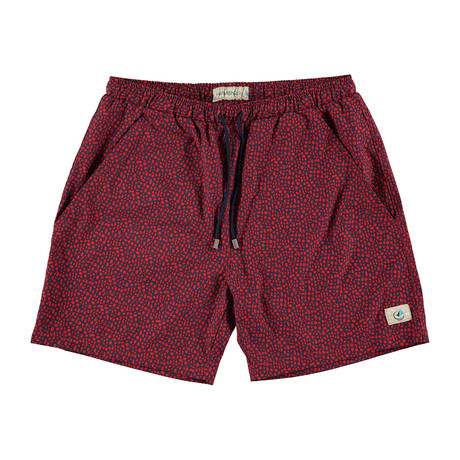 Revolutionary Swim Trunk // Red Speckled (XS)