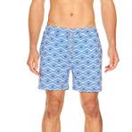 Bermuda Swim Trunk // Blue + White (XL)
