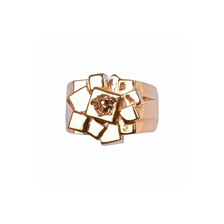 Gianni Versace // Medusa Ring V1// Gold Tone