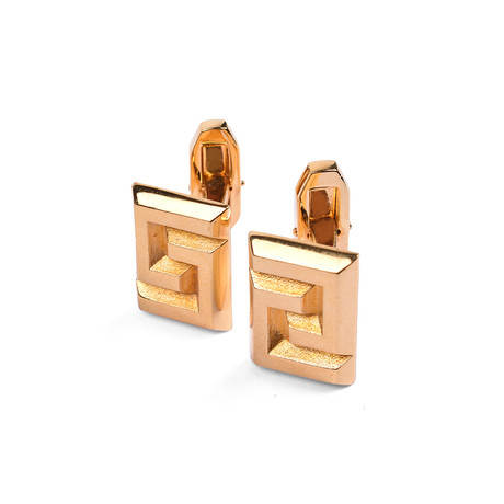 Gianni Versace // Men's Cuff Links // Gold Tone