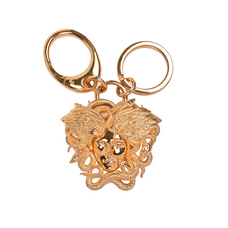 Gianni Versace // Medusa Key Ring // Gold Tone