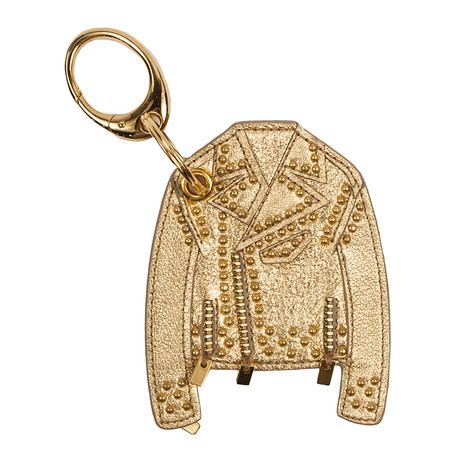 Gianni Versace // Leather Key Chain // Gold Tone
