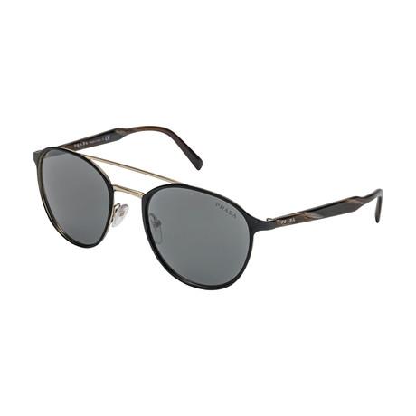 Prada // Men's 62TS 1AB7W1 Sunglasses // Gray + Silver Mirror