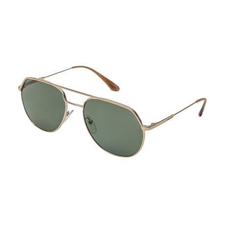 Prada // Men's 55US ZVN198 Polarized Sunglasses // Green