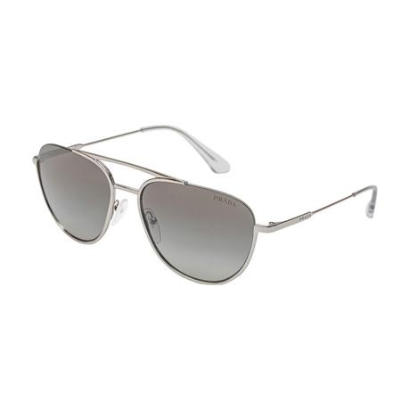 Prada // Men's 50US 1BC5O0 Sunglasses // Gray Gradient + Silver Mirror