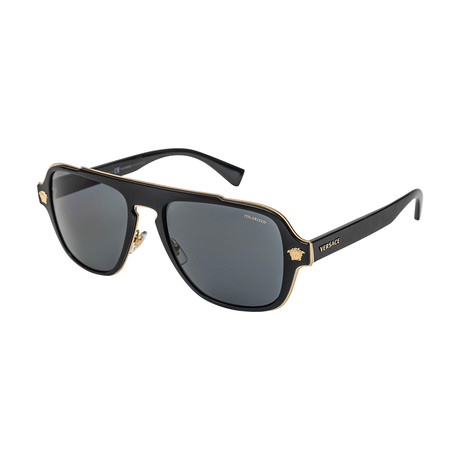 Versace // Men's 0VE2199 Polarized Sunglasses // Black