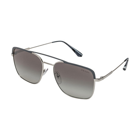 Prada // Men's 53VS 3294S1 Sunglasses // Gray Gradient + Silver Mirror