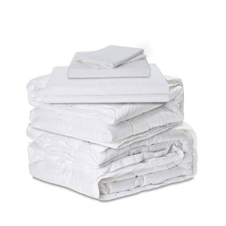 The Ervét System // White Cotton Percale // Queen (UltraLight + UltraLight)