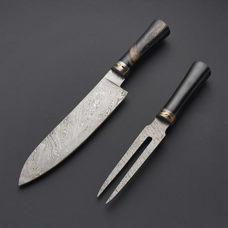 Chef + Fork // Black Micarta