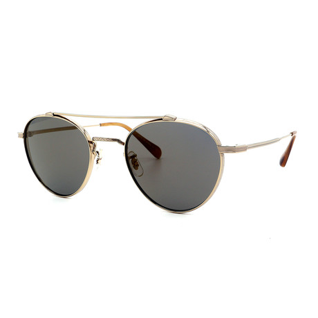 Oliver Peoples // Men's OV1223ST-5035Y9 Sunglasses // Graphite + Gold Mirror