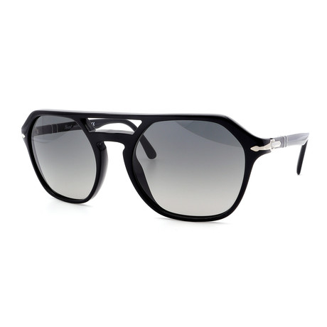Persol // Men's PO3206S-95-71 Sunglasses // Black + Gray