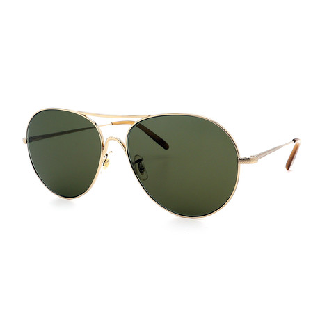 Oliver Peoples // Men's Rockmore OV1218S-503552 Sunglasses // Gold + Green