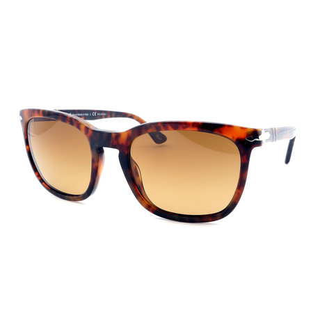 Persol // Men's PO3193S-108-M2 Square Sunglasses // Havana + Brown