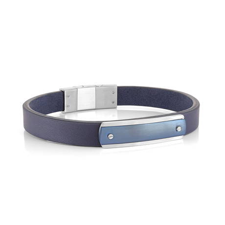Sideways Clasp Bracelet // Blue