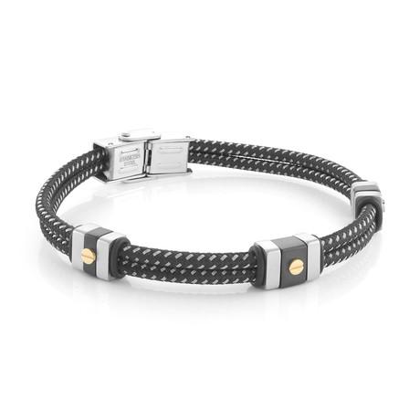Mixed Bracelet // Gold + Black
