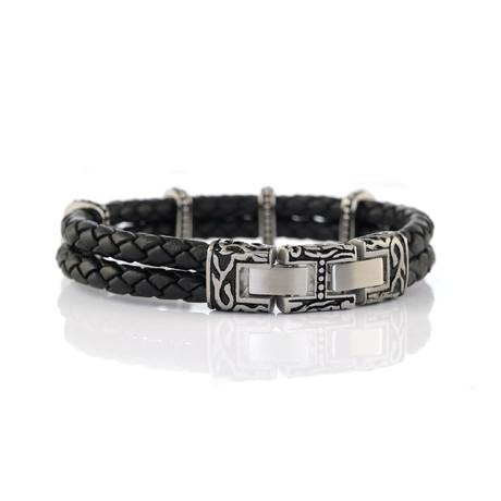 Vintage Design Adjustable Bracelet // Black