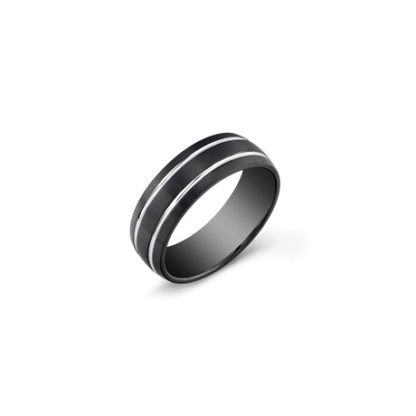 Stainless Steel Band // Black // 7mm (5)