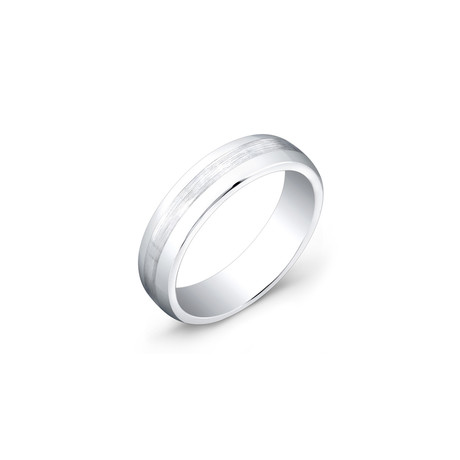 Brushed Center + Polished Edge Ring // 6mm (5)