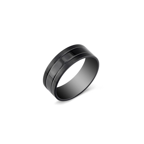 Stainless Steel Ring // Black // 8mm (5)