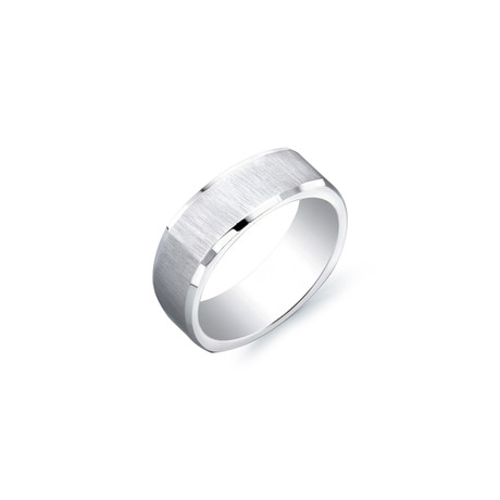 Satin Center Square Band Ring // 7mm (5)