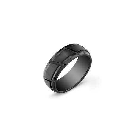 Striped Band // Black // 8mm (5)