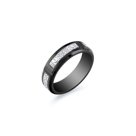 Stainless Steel Ring // Black + White // 6mm (5)
