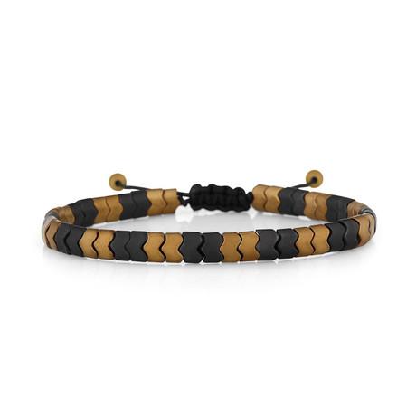 Geometric Bracelet // Brown + Black