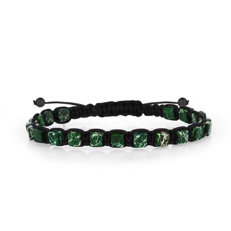 Square Bracelet // Black + Green