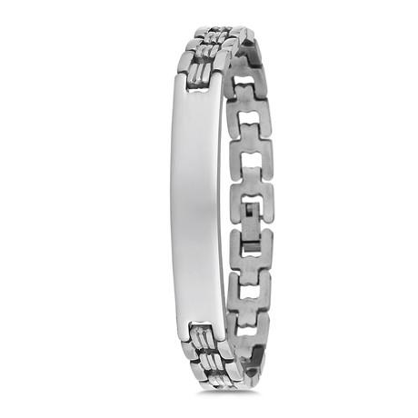 Sleek Link Bracelet // Silver