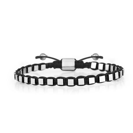 Cube Bracelet // Black + Silver