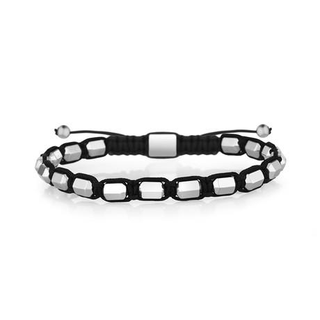 Thames Bracelet // Black + Silver