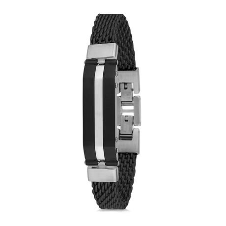 Mesh Bracelet // Black + Silver