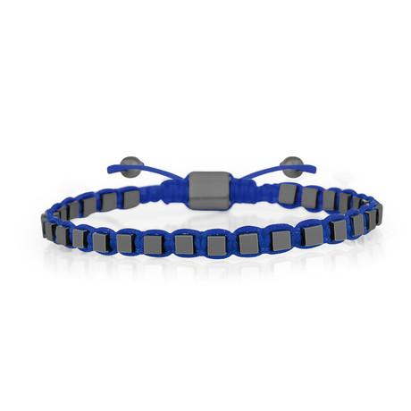 Cube Bracelet // Bright Blue