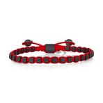 Cube Bracelet // Red + Black