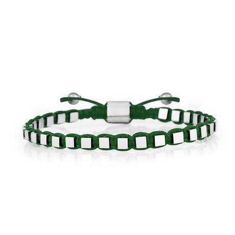 Cube Bracelet // Green