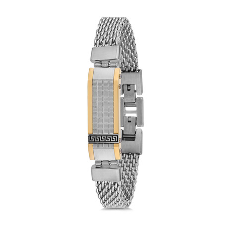 Mesh Bracelet // Silver + Gold