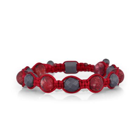 Ball Bracelet // Black + Red