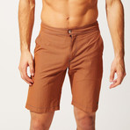 The Boardshort // Rust Black Seersucker (M)