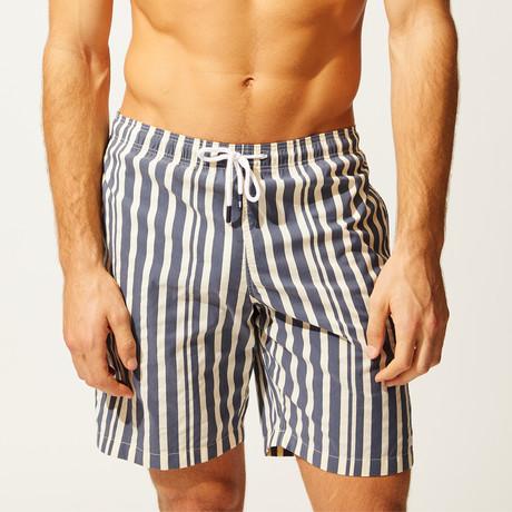 The California // Blue + Cream Stripe (S)
