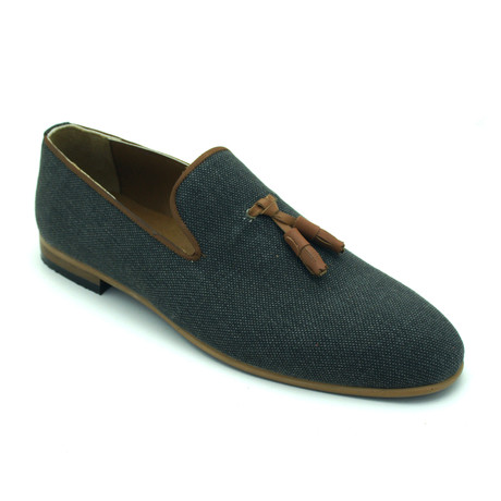 Alectron Loafers // Dark Green + Tan (Euro: 39)