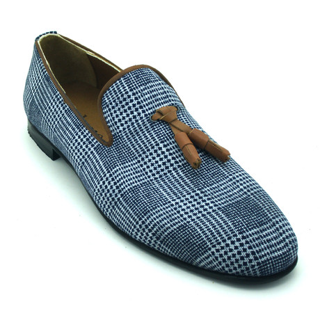 Bardel Loafers // Light Blue + Tan (Euro: 39)