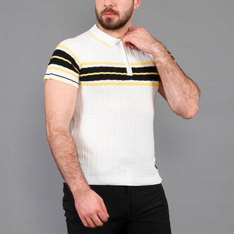 Brian Tricot Polo Shirt // Ecru (S)