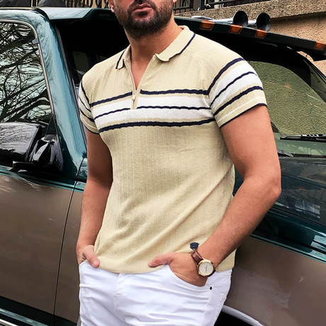 Kevin Tricot Polo Shirt // Beige (S)