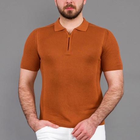 Carlos Tricot Polo Shirt // Tobacco (S)