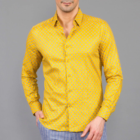 Ephraim Button Up Shirt // Yellow (S)
