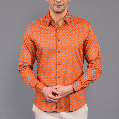 Alfredo Button Up Shirt // Orange (S)