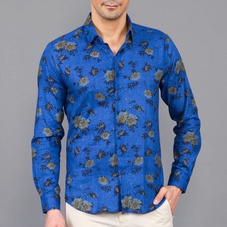 Edison Button Up Shirt // Indigo (S)