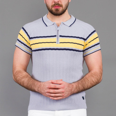 Warren Tricot Polo Shirt // Gray (S)