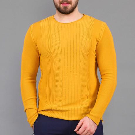 Reid Tricot Sweater // Mustard (S)